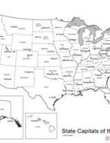 U.S. Map with State Capitals | Geography Worksheet - Admin